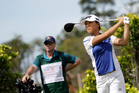 Lydia Ko of New Zealand tees off during the HSBC Women's Champions golf tournament held at Sentosa Golf Club's Tanjong course in Singapore. Photo/AP Photos