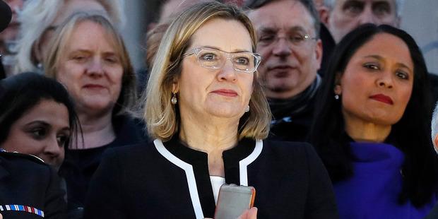 British Home Secretary Amber Rudd. Photo / AP