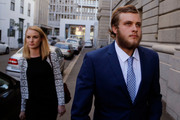 South African murder accused Henri van Breda arrives at the high court in the city of Cape Town. Photo / AP