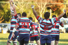 Rotoiti, celebrating after they snatched a dramatic 30-28 victory over this weekend's opposition last June. Photo/File