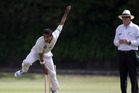 CD seamer Navin Patel is reaping the benefits of the continuity of four-day Plunket Shield cricket with his career third five-wicket bag yesterday in Napier. Photo/NZME.