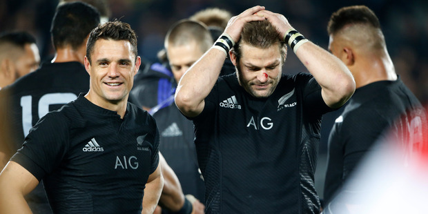 Loading Former All Blacks Richie McCaw and Dan Carter. Photo / Nick Reed.