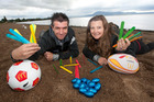 Paul Hickey and Kat Hicks from The Hits are ready for another beach dig. Photo/File
