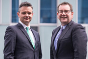 Green Party co-leader and finance spokesperson James Shaw, left, and Labour Party finance spokesperson Grant Robertson. Photo / Jason Oxenham