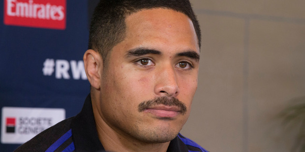 Loading New Zealand All Blacks halfback Aaron Smith during a press conference at the All Blacks team hotel, the Oatlands Park Hotel in Sunbury, in lead up to the Rugby World Cup Final aginat Australia.which w