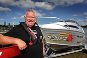 David Baty in 2015, promoting a competition where one lucky angler was said to be able to win one million dollars. Photo / Doug Sherring