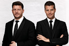 Manu Feildel and Pete Evans, hosts of the Australian series My Kitchen Rules. Photo / Supplied