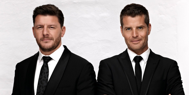 Loading Manu Feildel and Pete Evans, hosts of the Australian series My Kitchen Rules. Photo / Supplied