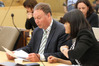 Council CE Andrew Newman with Mai Chen of Chen Palmer at the Government Inquiry. Photo / File