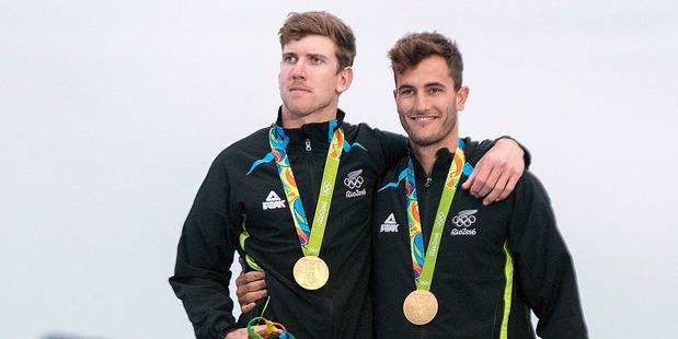 Loading Peter Burling and Blair Tuke win gold for the 49er class sailing at the 2016 Rio Olympics. Photo/Photosport