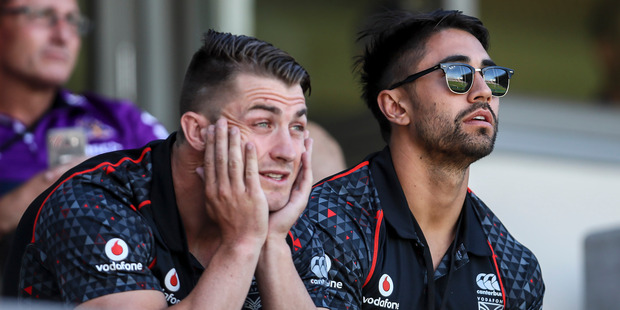"""Loading Kieran Foran (left) is full of praise for Shaun Johnson, saying """"I can't speak highly enough of the bloke and I mean that"""". Photo / Getty Images"""