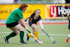 Caitlin Morris in action for Old Girls in the opening weekend of the club winter hockey season. Photo/Michael Cunningham
