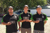 Hawke's Bay District Contest and Skills Day winner Hamish Best (centre), with Ben Thomas (left) and Hugh Abbiss will be in action in Waipukurau this Saturday in the East Coast Regional Final of the FMG Young Farmer of the Year comp. Photo / File