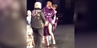 Watch: Watch: Cuba Gooding Jr lifts Sarah Paulson's skirt on stage