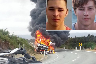 Melzner and Leschok died when their rental car collided with a bus carrying more than a dozen tourists near Te Anau last Tuesday. Photo / Supplied