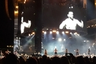 """Footage from Steph Rowe captured the 30-strong kapa haka group performing a waiata and the Ka Mate haka immediately after Adele's opening song at Mt Smart Stadium on Saturday night.  Surrounding Adele on the outer-ring stage, the haka brought a tear to the London-based singer's eye and, she said, threw her a little off-key for her own second song.  """"How amazing was that haka?"""" Adele asked the 45,000-strong crowd. """"Jesus . . . it was beyond moving."""""""