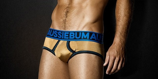 The undies are retailing at $15,859 NZD and are made from 24 karat gold fabric. Photo/aussieBum/Twitter
