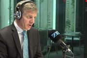 Prime Minister Bill English joins Leighton Smith for an hour-long chat. Photo / Newstalk ZB
