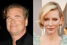 Val Kilmer and Cate Blanchett. Photos / Getty