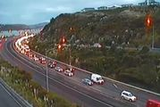 Police said motorists heading into Wellington central business district should take care after several weather-related crashes. Photo / NZTA