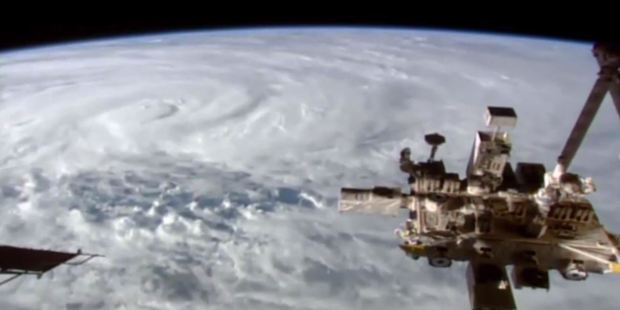 Loading Incredible footage taken from the International Space Station shows Cyclone Debbie forming just off the east coast of Australia. Photo / ISS