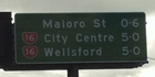 """I knew the city was rapidly growing but didn't know it had reached Wellsford already,"" writes Jaye. Sign spotted on SH16 approaching the new Waterview tunnel link. Photo / Supplied"