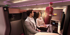 Qatar Airways' new Business Class cabin.