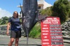 Donna Pascoe with her 420kg blue marlin. Photo / Supplied