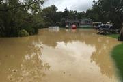 Flooding in Ramarama. Photo / Doug Sherring