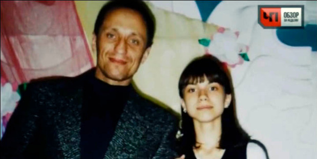 Popkov with his daughter. Photo / NTV
