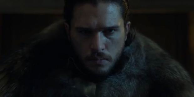 Jon Snow, played by Kit Harrington, appears in the new Game of Thrones trailer.