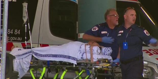 Police say the attack was witnessed by many at the centre, and caught on CCTV. Photo / Nine News