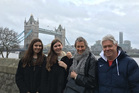 Leanne Pooley and family in London.