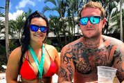 """Rachael Aracic and Tyson Griffiths claim they were told by a hotel manager on Hamilton Island to """"pay up or get out"""" as Cyclone Debbie took hold. Photo / Facebook"""