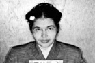 Rosa Parks, arrested in Alabama in 1955 for not giving up her seat on a bus to a white passenger. Photo / Getty Images