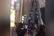 The escalator in Langham Place shopping centre, Mong Kok, was full of people when it suddenly changed direction, injuring 18 people.