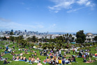 On fine summer weekends, it can be tougher to procure a patch of grass than a joint of grass in Dolores Park.