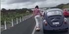 Watch: Watch: Skating through traffic