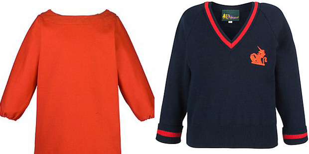 Two of the items Prince George will wear at his new school. Photo / John Lewis