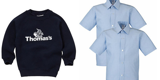 PE jumper and collared shirt's worn by students at Thomas's Battersea. Photo / John Lewis