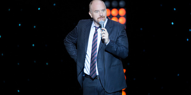 Louis C.K. in a sharp suit for his new hour-plus comedy special '2017'. Photo / Netflix