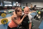 1974 Commonwealth Games Gold Medalist in weightlifting Tony Ebert who is training for The Masters Games, which are to be held in Auckland, his wife Jennifer Ebert is also competing. 7 April 2017 New Zealand Herald Photograph by Brett Phibbs.