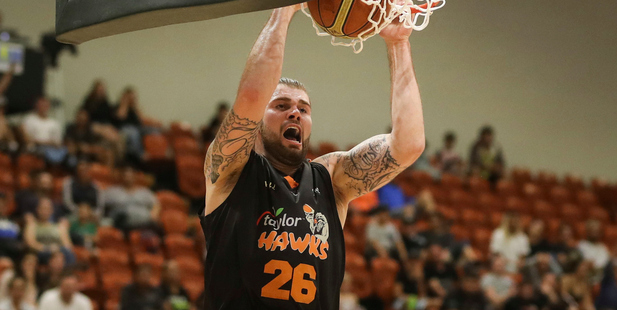 Grant Fiorentinos in action for the Bay Hawks. Photo / Photosport