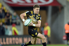 Beauden Barrett in action for the Hurricanes against the Waratahs in Wellington last night. Photo / Photosport.
