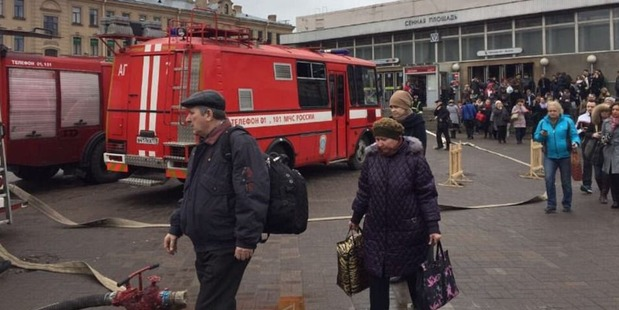 Emergency services raced to the station as passengers flood out from the platforms. Photo / Twitter