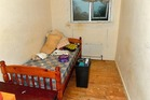 The victim was kept in a squalid room with no carpets. Photo / Police Service Northern Ireland