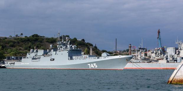 Russia's newest patrol ship, the Admiral Grigorovich. Photo / 123RF