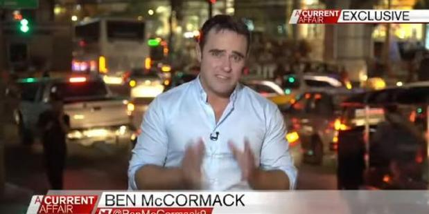 Loading Ben McCormack on air for A Current Affair. Photo / Channel 9