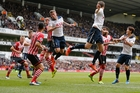 Toby Alderweireld (left) and Jan Vertonghen have been mainstays when Tottenham have played a three-man defence this season. Photo / AP