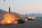 North Korea launches four missiles in an undisclosed location North Korea last month. Photo / AP file